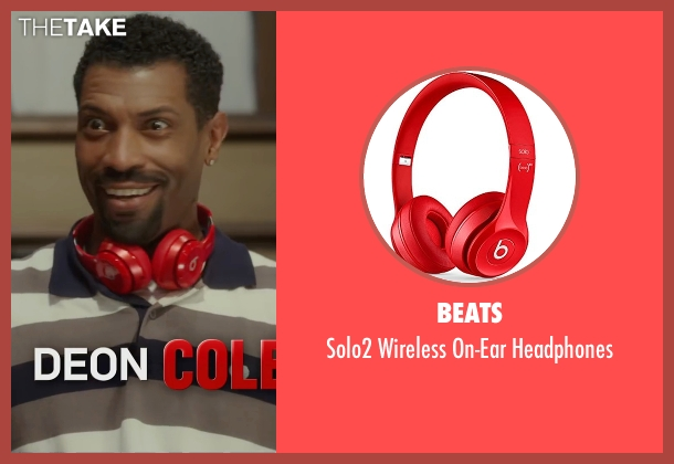 Beats red headphones from Barbershop: The Next Cut seen with Deon Cole (Dante)
