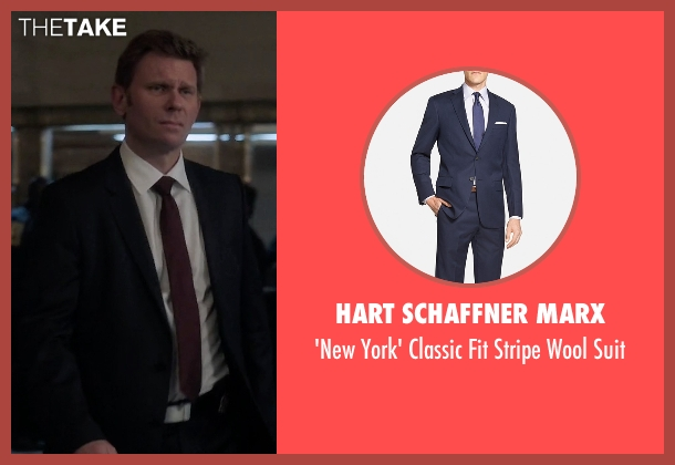 Hart Schaffner Marx blue suit from Quantico seen with Deputy Director Clayton  (Mark Pellegrino)