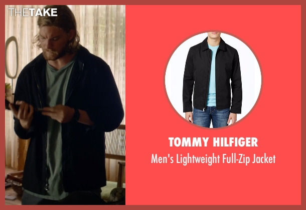 Tommy Hilfiger black jacket from Animal Kingdom seen with Deran Cody (Jake Weary)