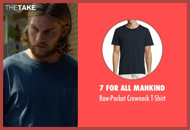 7 For All Mankind blue t-shirt from Animal Kingdom seen with Deran Cody (Jake Weary)