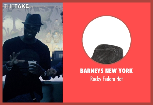 Barneys New York black hat from Self/Less seen with Derek Luke (Anton)