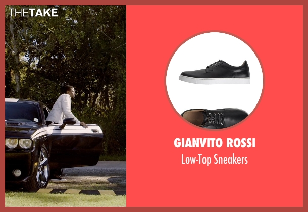Gianvito Rossi black sneakers from Self/Less seen with Derek Luke (Anton)