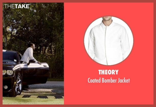 Theory white jacket from Self/Less seen with Derek Luke (Anton)