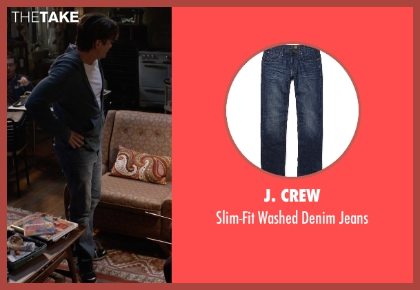 J. Crew blue jeans from Insidious: Chapter 3 seen with Dermot Mulroney (Sean Brenner)