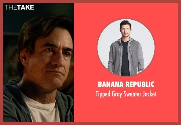 Banana Republic gray jacket from Insidious: Chapter 3 seen with Dermot Mulroney (Sean Brenner)