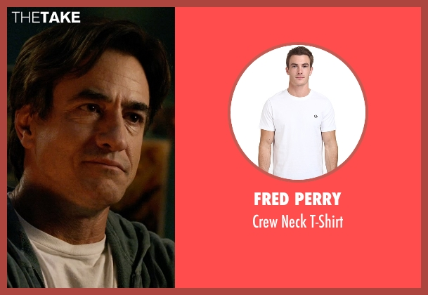 Fred Perry white t-shirt from Insidious: Chapter 3 seen with Dermot Mulroney (Sean Brenner)