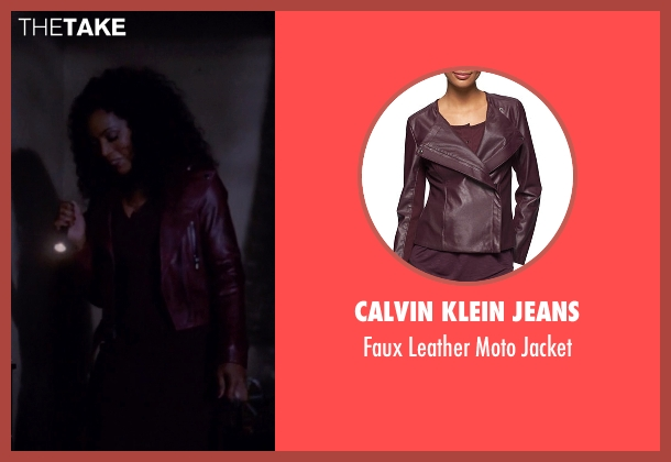 Calvin Klein Jeans red jacket from American Horror Story seen with Desiree Dupree (Angela Bassett)
