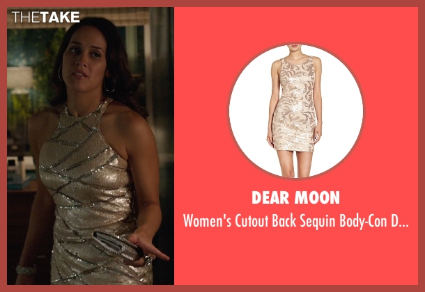 Dear Moon beige dress from Rosewood seen with Det. Annalise Villa (Jaina Lee Ortiz)