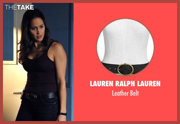 Lauren Ralph Lauren black belt from Rosewood seen with Det. Annalise Villa (Jaina Lee Ortiz)