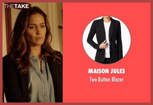 Maison Jules black blazer from Rosewood seen with Det. Annalise Villa (Jaina Lee Ortiz)