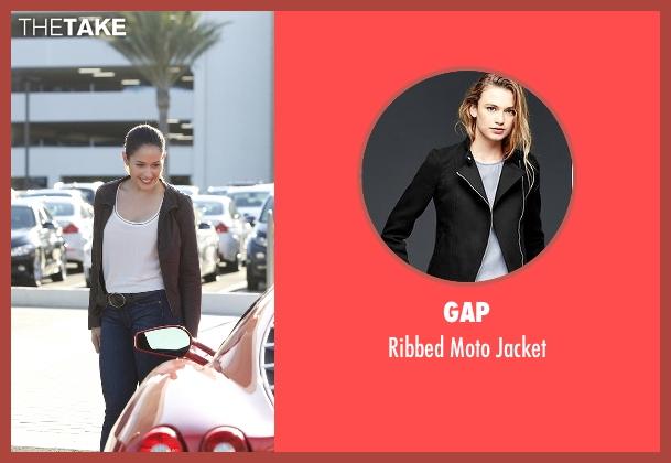 Gap black jacket from Rosewood seen with Det. Annalise Villa (Jaina Lee Ortiz)