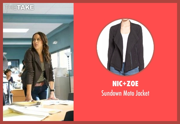 Nic+Zoe black jacket from Rosewood seen with Det. Annalise Villa (Jaina Lee Ortiz)