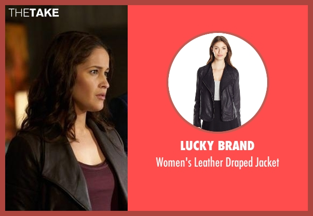 Lucky Brand black jacket from Rosewood seen with Det. Annalise Villa (Jaina Lee Ortiz)
