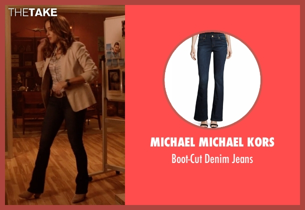 Michael Michael Kors black jeans from Rosewood seen with Det. Annalise Villa (Jaina Lee Ortiz)