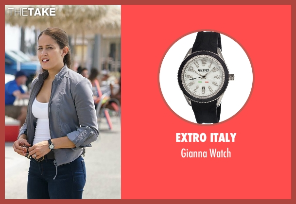 Extro Italy black watch from Rosewood seen with Det. Annalise Villa (Jaina Lee Ortiz)