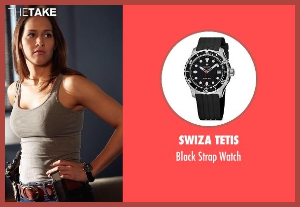 Swiza Tetis black watch from Rosewood seen with Det. Annalise Villa (Jaina Lee Ortiz)