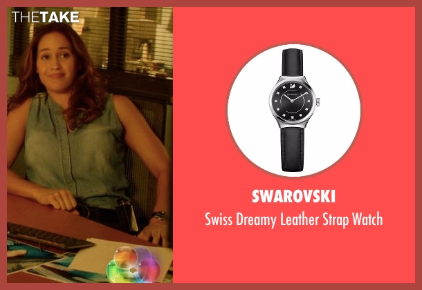 Swarovski black watch from Rosewood seen with Det. Annalise Villa (Jaina Lee Ortiz)