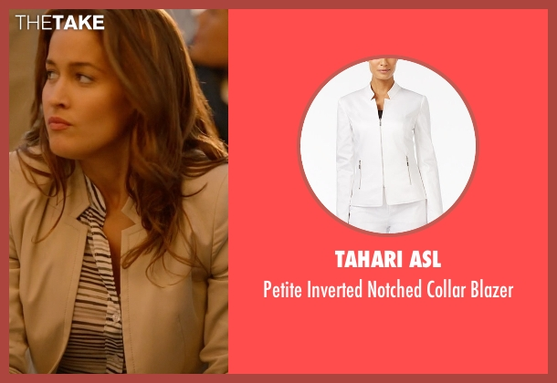 Tahari ASL blazer from Rosewood seen with Det. Annalise Villa (Jaina Lee Ortiz)