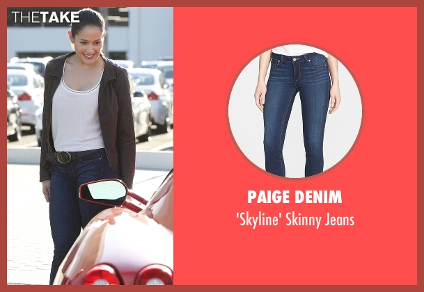 Paige Denim blue jeans from Rosewood seen with Det. Annalise Villa (Jaina Lee Ortiz)