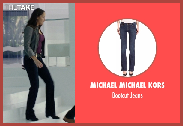 MICHAEL Michael Kors blue jeans from Rosewood seen with Det. Annalise Villa (Jaina Lee Ortiz)