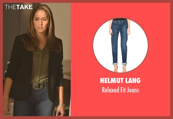 Helmut Lang blue jeans from Rosewood seen with Det. Annalise Villa (Jaina Lee Ortiz)