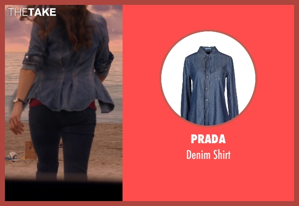 Prada blue shirt from Rosewood seen with Det. Annalise Villa (Jaina Lee Ortiz)