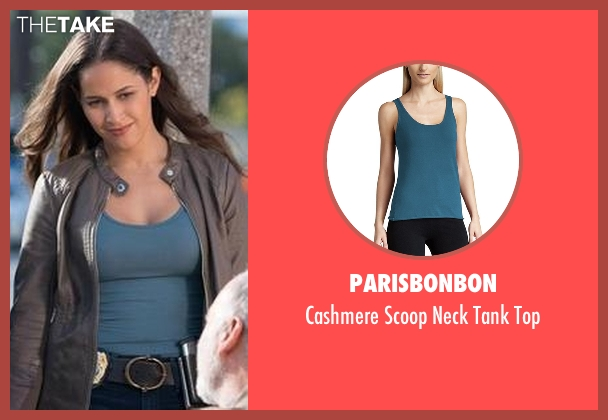 Parisbonbon blue top from Rosewood seen with Det. Annalise Villa (Jaina Lee Ortiz)
