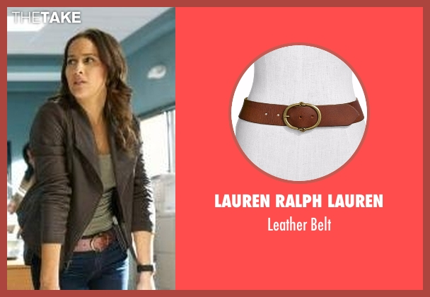 Lauren Ralph Lauren brown belt from Rosewood seen with Det. Annalise Villa (Jaina Lee Ortiz)