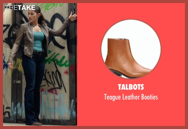 Talbots brown booties from Rosewood seen with Det. Annalise Villa (Jaina Lee Ortiz)