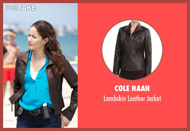 Cole Haan brown jacket from Rosewood seen with Det. Annalise Villa (Jaina Lee Ortiz)