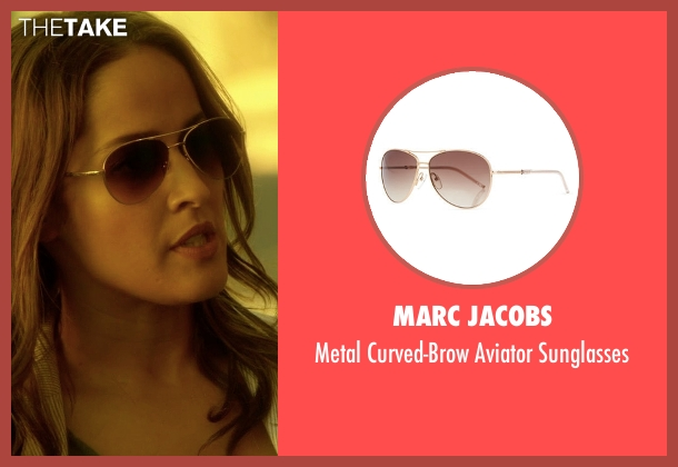 Michael Kors brown sunglasses from Rosewood seen with Det. Annalise Villa (Jaina Lee Ortiz)