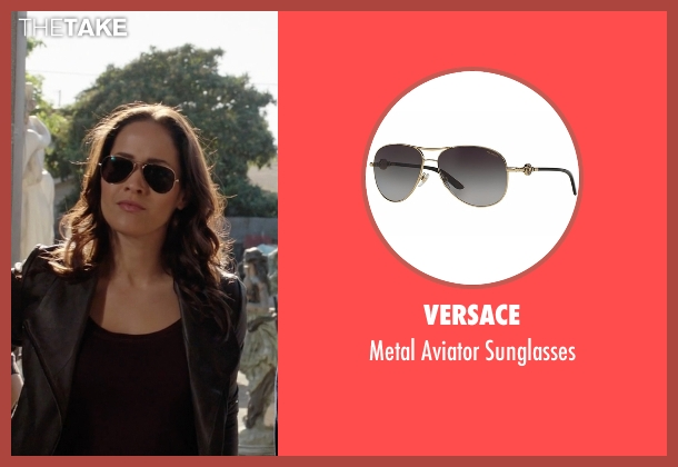 Versace gold sunglasses from Rosewood seen with Det. Annalise Villa (Jaina Lee Ortiz)