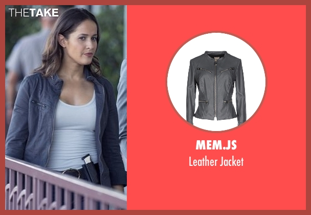 Mem.JS gray jacket from Rosewood seen with Det. Annalise Villa (Jaina Lee Ortiz)