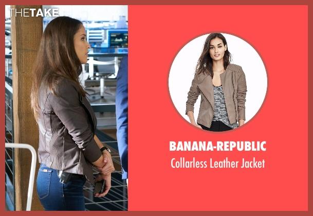 Banana-Republic gray jacket from Rosewood seen with Det. Annalise Villa (Jaina Lee Ortiz)