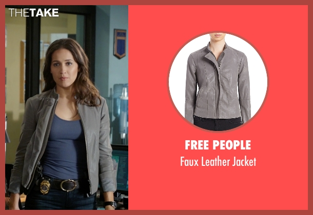 Free People gray jacket from Rosewood seen with Det. Annalise Villa (Jaina Lee Ortiz)