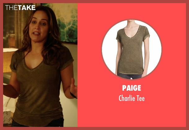 Paige green tee from Rosewood seen with Det. Annalise Villa (Jaina Lee Ortiz)