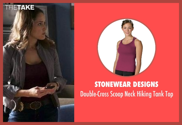 Stonewear Designs purple top from Rosewood seen with Det. Annalise Villa (Jaina Lee Ortiz)