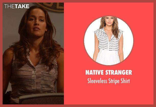 Native Stranger shirt from Rosewood seen with Det. Annalise Villa (Jaina Lee Ortiz)