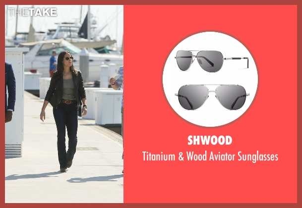 Shwood silver sunglasses from Rosewood seen with Det. Annalise Villa (Jaina Lee Ortiz)