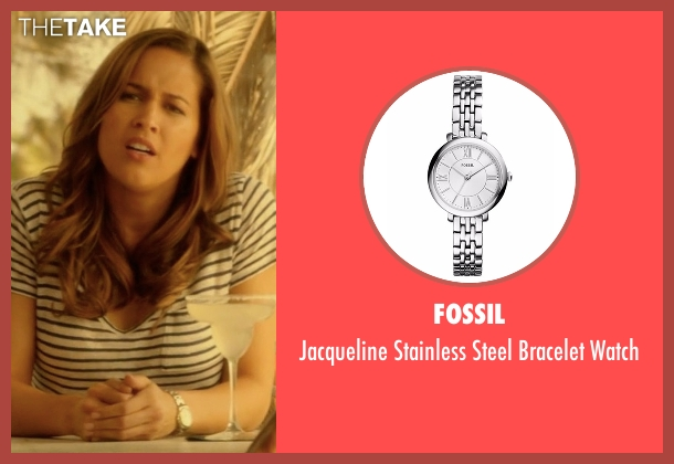 Fossil silver watch from Rosewood seen with Det. Annalise Villa (Jaina Lee Ortiz)