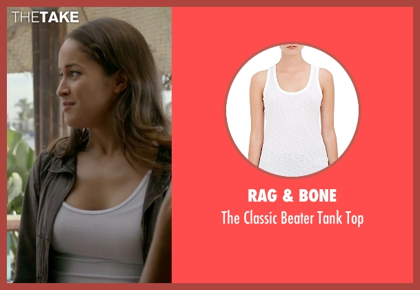 Rag & Bone white top from Rosewood seen with Det. Annalise Villa (Jaina Lee Ortiz)