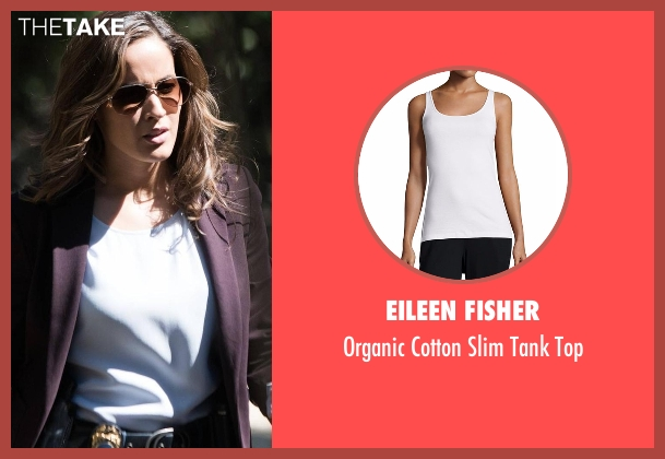Eileen Fisher white top from Rosewood seen with Det. Annalise Villa (Jaina Lee Ortiz)