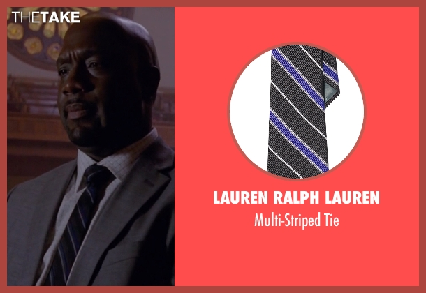Lauren Ralph Lauren black tie from American Horror Story seen with Detective Hahn (Richard T. Jones)