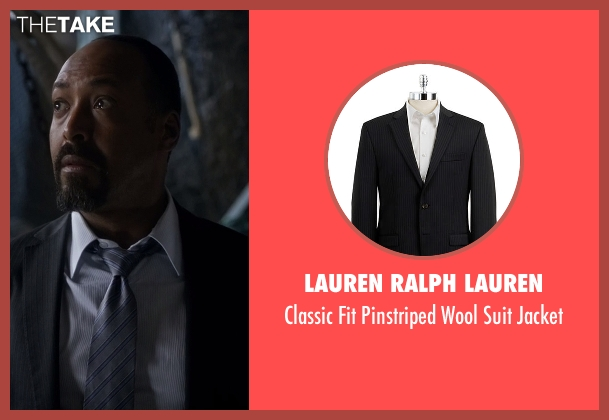Lauren Ralph Lauren black jacket from The Flash seen with Detective Joe West (Jesse L. Martin)