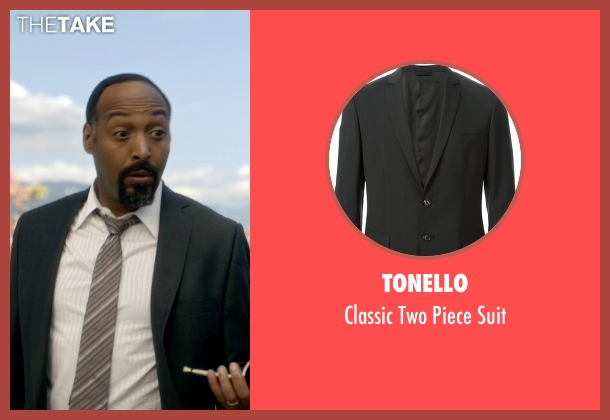 Tonello black suit from The Flash seen with Detective Joe West (Jesse L. Martin)