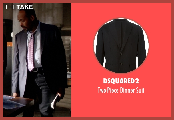 Dsquared2 black suit from The Flash seen with Detective Joe West (Jesse L. Martin)
