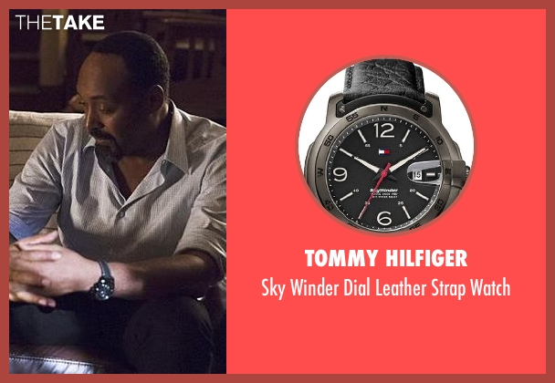 Tommy Hilfiger black watch from The Flash seen with Detective Joe West (Jesse L. Martin)