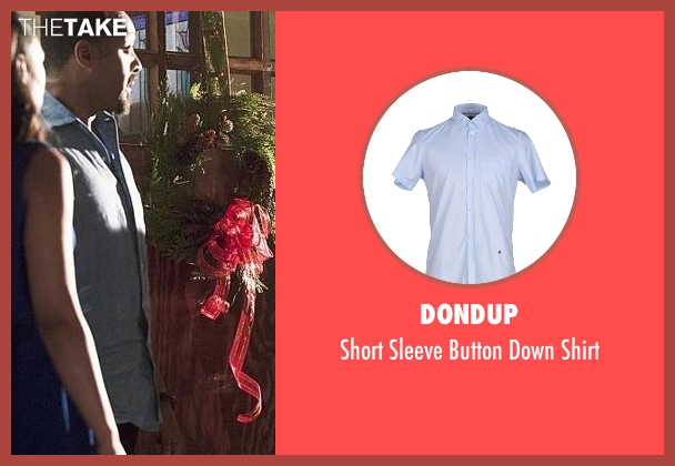 Dondup blue shirt from The Flash seen with Detective Joe West (Jesse L. Martin)