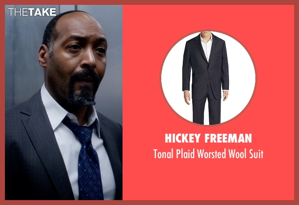 Hickey Freeman blue suit from The Flash seen with Detective Joe West (Jesse L. Martin)