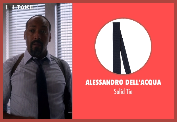 Alessandro Dell'acqua blue tie from The Flash seen with Detective Joe West (Jesse L. Martin)